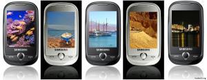 300 обоев ''3 стола'' 720 x 320 на Samsung Corby с видами Израиля (JPG)